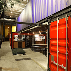 por Boutique de Arquitectura ¨Querétaro [Sonotectura+Refaccionaria] Industrial Madeira Efeito de madeira