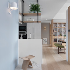 Corredores, halls e escadas asiáticos por 禾光室內裝修設計 ─ Her Guang Design Asiático