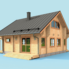 من THULE Blockhaus GmbH - Ihr Fertigbausatz für ein Holzhaus ريفي خشب Wood effect