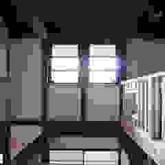 Azjatyckie domowe biuro i gabinet od 西本建築事務所 一級建築士事務所 Azjatycki Drewno O efekcie drewna