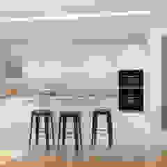 Réaménagement d'un appartement au centre de Lyon. Cuisine scandinave par Julie LEFEVRE - Design d'Espace et Rendu 3D Scandinave