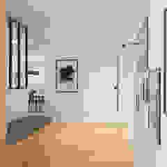 Scandinavian style corridor, hallway& stairs by Julie LEFEVRE - Design d'Espace et Rendu 3D Scandinavian