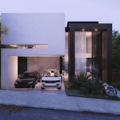 Casa Gran Royalle Lagoa Santa por MM Arquitetura Minimalista Concreto