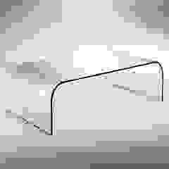 Curved glass table for living room Gallery INFABBRICA 客廳邊桌與托盤 玻璃 Transparent