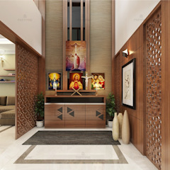 Asian style corridor, hallway & stairs by Monnaie Interiors Pvt Ltd Asian
