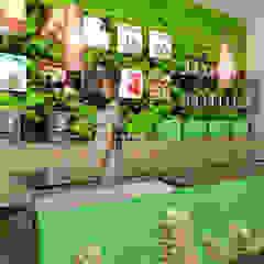 by SERPİCİ's Mimarlık ve İç Mimarlık Architecture and INTERIOR DESIGN Tropical Bamboo Green