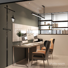 Choa Chu Kang Loop Modern study/office by Swish Design Works Modern Plywood