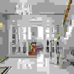 Двухуровневая квартира, г.Москва Коридор, прихожая и лестница в классическом стиле от Студия дизайна интерьера OBZOR Классический