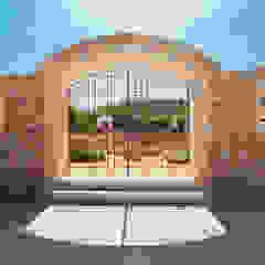 Mediterranean style doors by ESTUDI 353 ARQUITECTES SLPU Mediterranean Stone