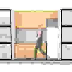 Oleh GaDantas Arquitetura Rustic Kayu Wood effect