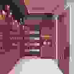 Main entrance foyer area interior decoration Sian Kitchener homify Modern corridor, hallway & stairs MDF Brown