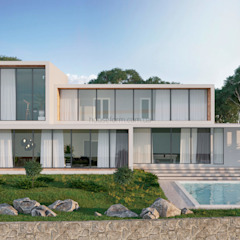 Hi Tech House by HouseForm Design Studio Мінімалістичний Залізобетон
