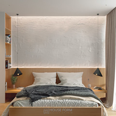 White AP-43 by HouseForm Design Studio Мінімалістичний Дерево Дерев'яні