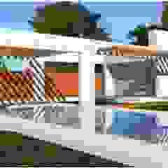 de UP arquitectos Minimalista Hierro/Acero