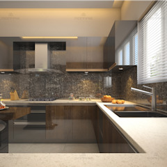 Asian style kitchen by Monnaie Interiors Pvt Ltd Asian