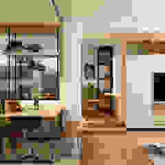 Small Space Minimalist dining room by Coohom Minimalist