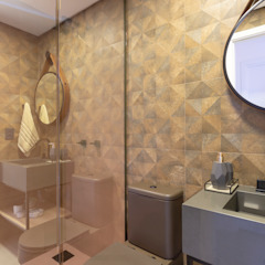 Cassiana Rubin Arquitetura Industrial style bathroom