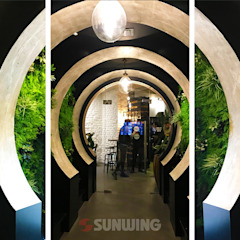 Fire-retardant Artificial green walls Ruang Komersial Modern Oleh Sunwing Industries Ltd Modern Plastik