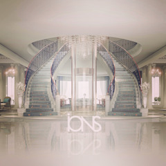 Hollywood Regency in Home Interior Design Colonial style corridor, hallway& stairs by IONS DESIGN Colonial Iron/Steel