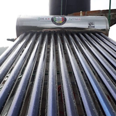 Calentador Solar 12 tubos Solar Azteca HogarArtículos del hogar Hierro/Acero Gris