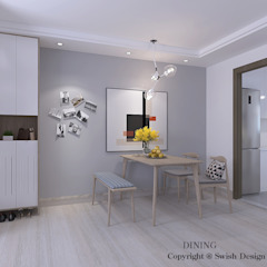 Hougang St 91 Minimalist dining room by Swish Design Works Minimalist Plywood