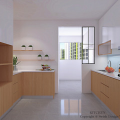 Kitchen option 2 by Swish Design Works Minimalist Plywood