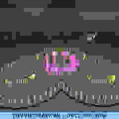 Ruang Komersial Modern Oleh Công ty Đài phun nước TDV Việt Nam Modern
