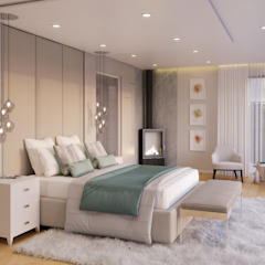 Sandton Contemporary Home Eclectic style bedroom by Dessiner Interior Architectural Eclectic