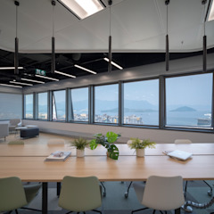 Interweaving Workspace Modern office buildings by Lot Architects Ltd Modern