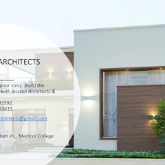 من Bristan Architects & Interior Designers تبسيطي الطوب