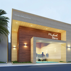 من Bristan Architects & Interior Designers تبسيطي الألومنيوم / الزنك
