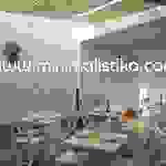 Minimalistika.com Balcon, Veranda & Terrasse méditerranéens Bois massif Blanc