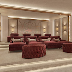 Private palace Modern Media Room by dal design office Modern