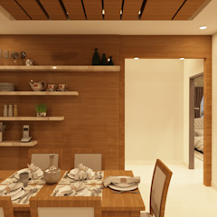 Asian style dining room by SD Interiors & Modulars Asian Wood Wood effect