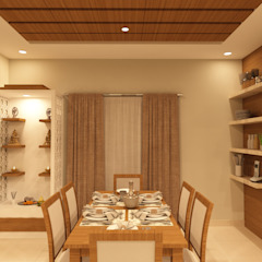 Asian style dining room by SD Interiors & Modulars Asian