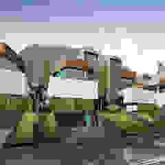 Slope House Sowi Gunung 2.0 Rumah Modern Oleh GUBAH RUANG studio Modern Batu Bata