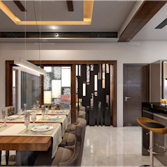 Asian style dining room by Monnaie Interiors Pvt Ltd Asian