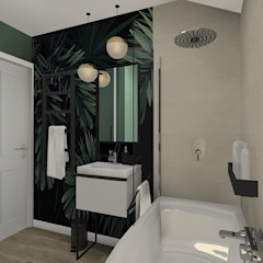 Small bathroom three concepts Baños de estilo tropical de BAYO Design Interior Design Studio Tropical