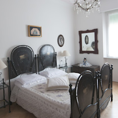 Appartamento Liberty in centro storico Studio di Architettura IATTONI Camera da lettoAccessori & Decorazioni