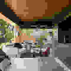 de Jéssica Araújo Arquitetura Rústico Madera Acabado en madera