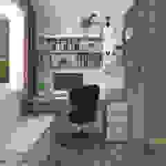 Queen's Road Scandinavian style study/office by Swish Design Works Scandinavian Plywood