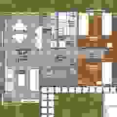 Planta de Distribución Interior #1 Casas estilo moderno: ideas, arquitectura e imágenes de R&R Construccion Moderno