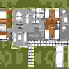 Planta de Distribución Interior #2 Casas estilo moderno: ideas, arquitectura e imágenes de R&R Construccion Moderno