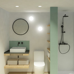Mediterranean style bathrooms by Alba Interiorisme Mediterranean