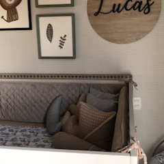 ea interiorismo Industrial style nursery/kids room Grey