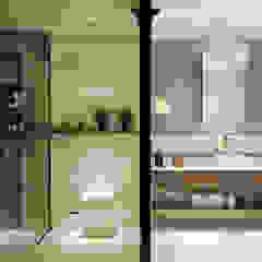 BANYO PROJESİ Rustik Banyo WALL INTERIOR DESIGN Rustik