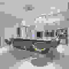 Residencia Ampla Salas de estar modernas por Élcio Bianchini Projetos Moderno