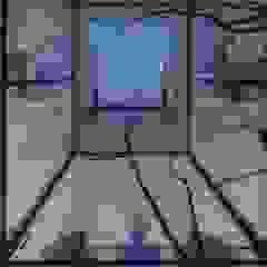 Villa in de duinen Moderne gangen, hallen & trappenhuizen van Architectenbureau Jules Zwijsen Modern