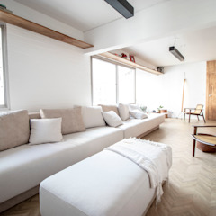 Apartamento Conego 613 Salas multimídia minimalistas por Passos Arquitetura Minimalista