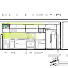 COCINA DE 6.5 m de ARQUITECTURA.ARGENIS Minimalista Aglomerado